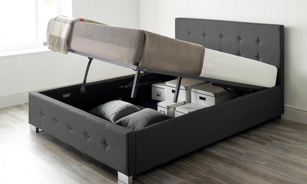Aspire Fabric Ottoman Bed Frame