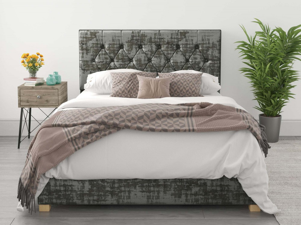 Valentino Ottoman Bed In Exclusive Distressed Velvet