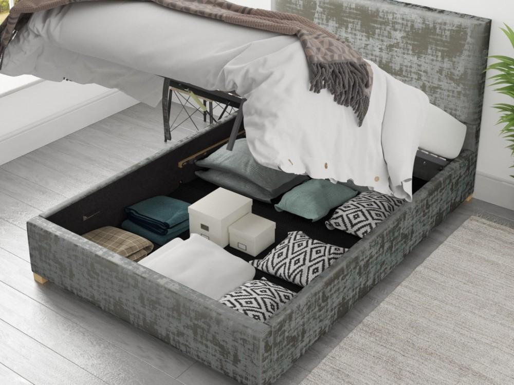Aurora Ottoman Bed In Distressed Velvet