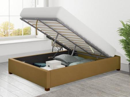 Uncategorized Ottoman Loft Bed Plush Velvet with optional mattress