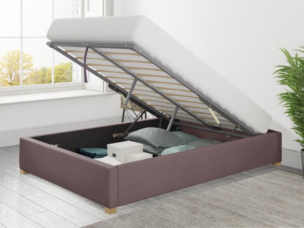 Ottoman Loft Bed Plush Velvet with optional mattress