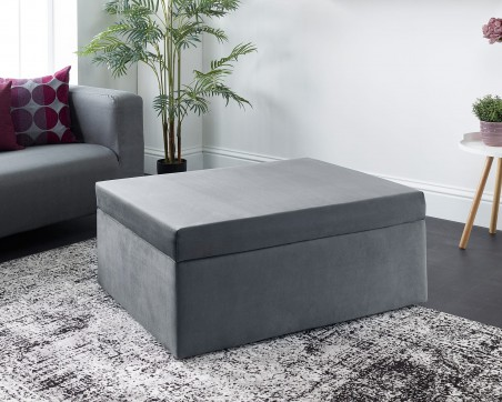Beds Footstool Sofa Bed - Foldaway Single Guest Bed with Mattress