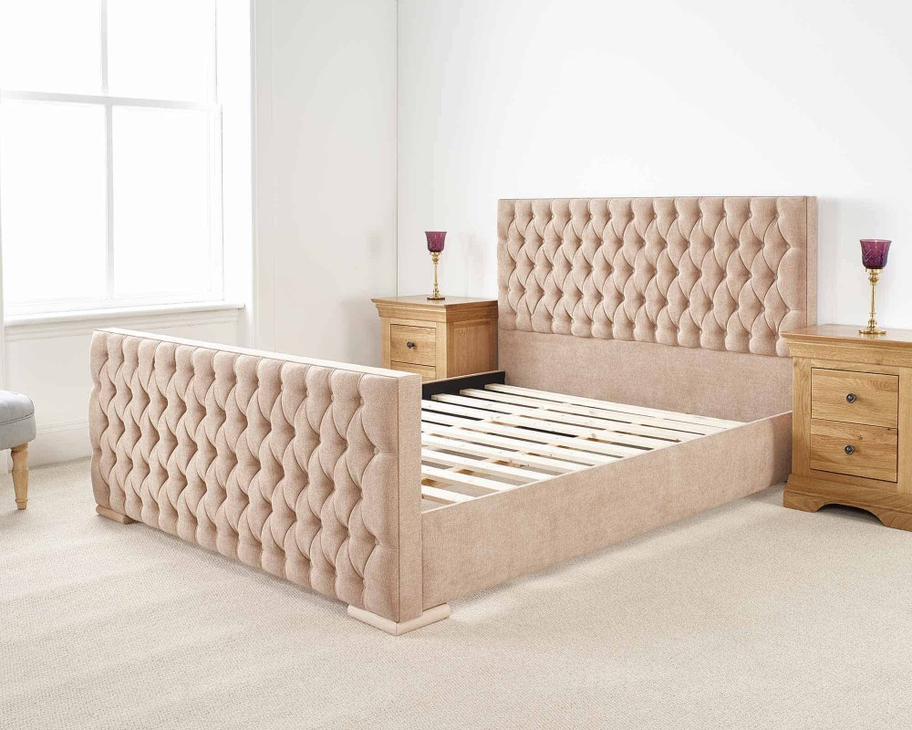 Solid Wood White Bed Frame – SIngle – Super King Sizes