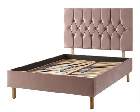 Headboards Catherine Lansfield Boutique Collection Special Edition Rose Gold Velvet Headboard