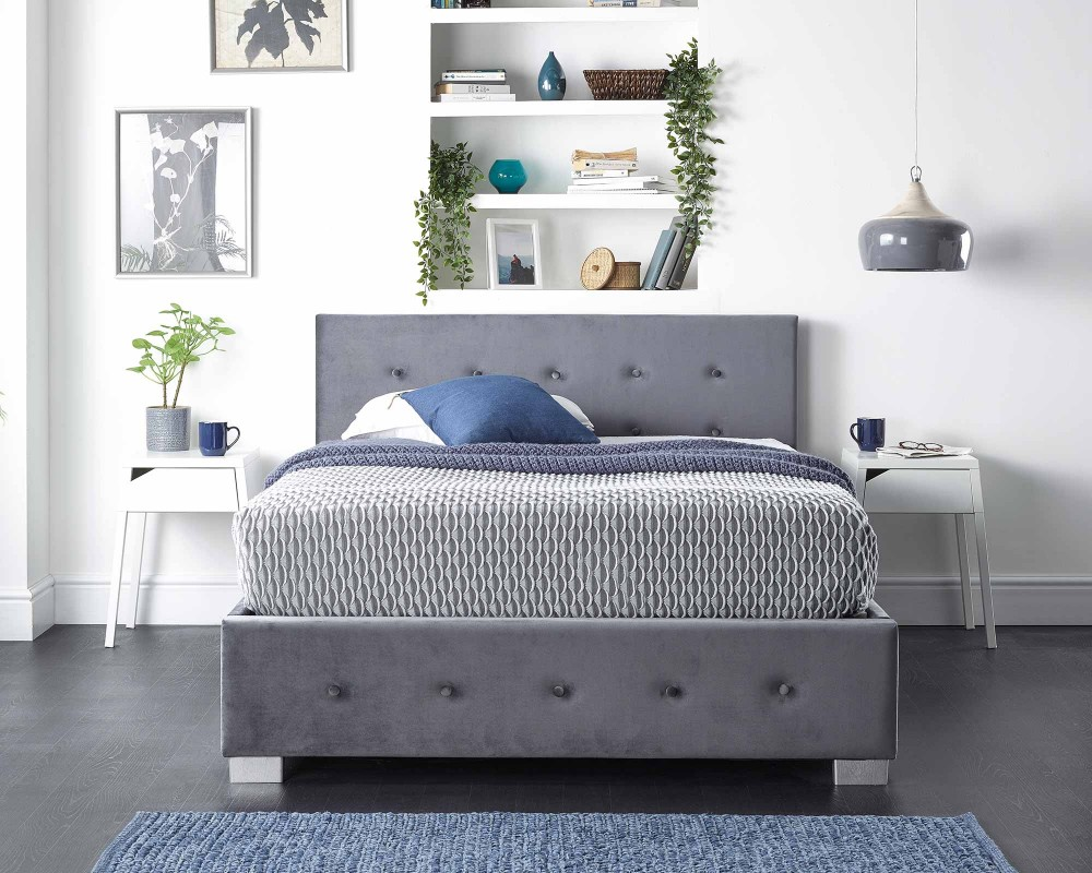 Side Opening Storage Ottoman Bed...