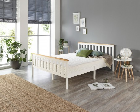 Beds Pacific Solid Wood White Bed Frame - Single to Super King Sizes