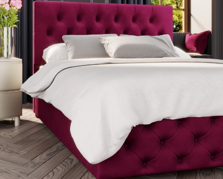 Beds Laurence Llewelyn-Bowen Luna Velvet Fabric Ottoman Bed