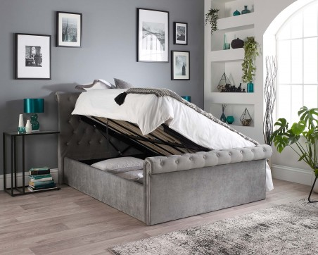 Ottoman Beds Chessington Side Opening Storage Ottoman Bed with Optional Mattress