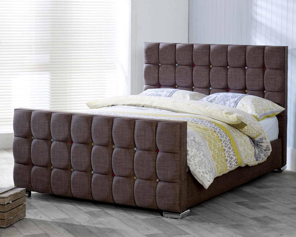 Catherine Lansfield Gatsby Nutmeg Sleigh Bed