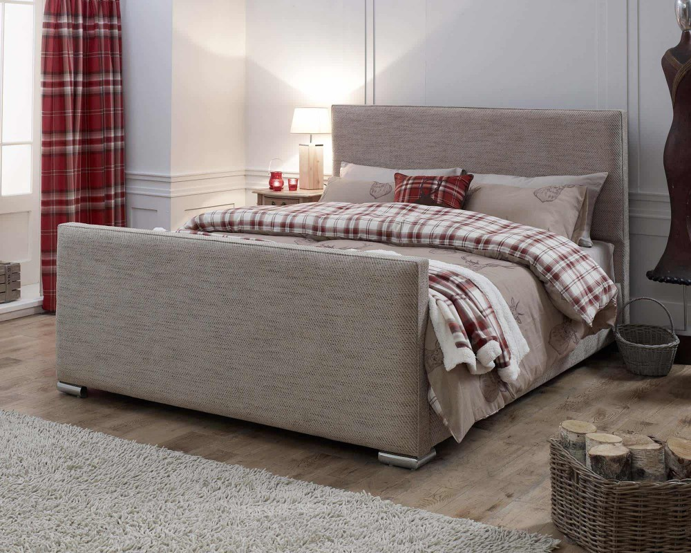 Catherine Lansfield Heritage Caramel Sleigh Bed